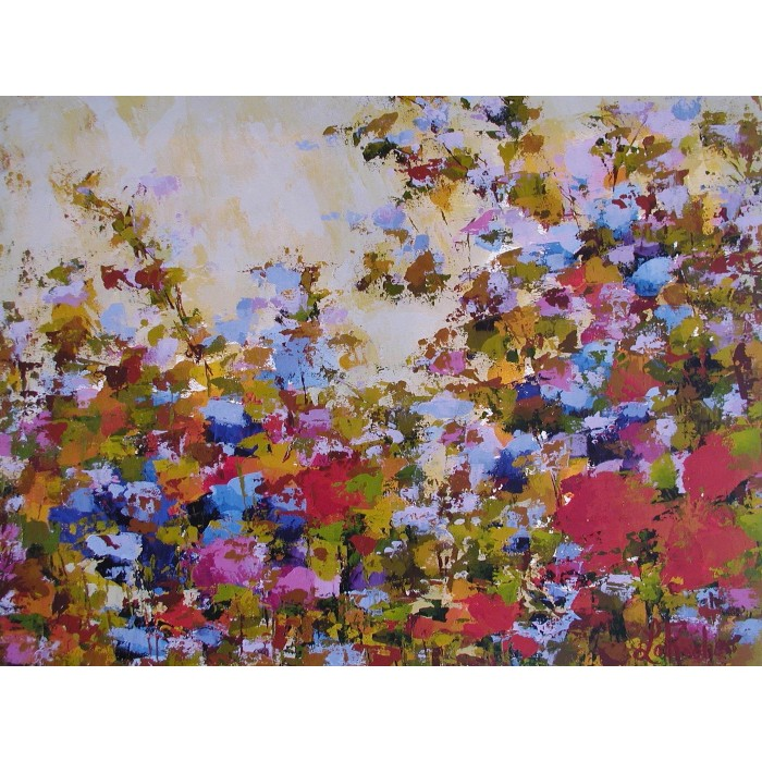 Par amour pour toi, oeuvre de Andrée LaRoche, artiste peintre. Oeuvre abstraite réalisée à l'acrylique, sur toile etàla spatule.