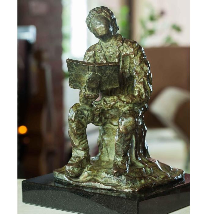 Bronze réalisé par l'artiste peintre et sculpteur Rénald Gauthier , Le visionnaire